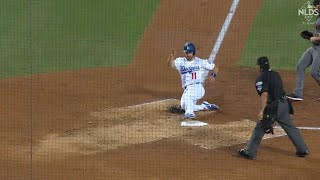 ARI@LAD Gm2: Forsythe scores on a wild pitch