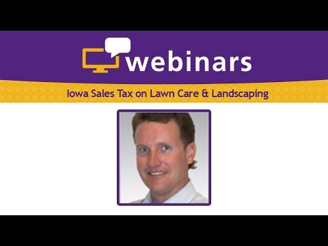 Iowa Sales Tax on Lawn Care & Landscaping 2016