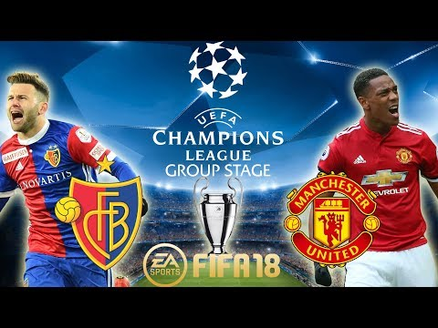 FIFA 18 FC Basel vs Manchester United   Champions League Group Stage 2017/18   PS4 Full Match