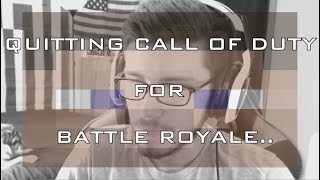 QUITTING CALL OF DUTY FOR BATTLE ROYALE.. | MINECRAFT HUNGER GAMES 2019