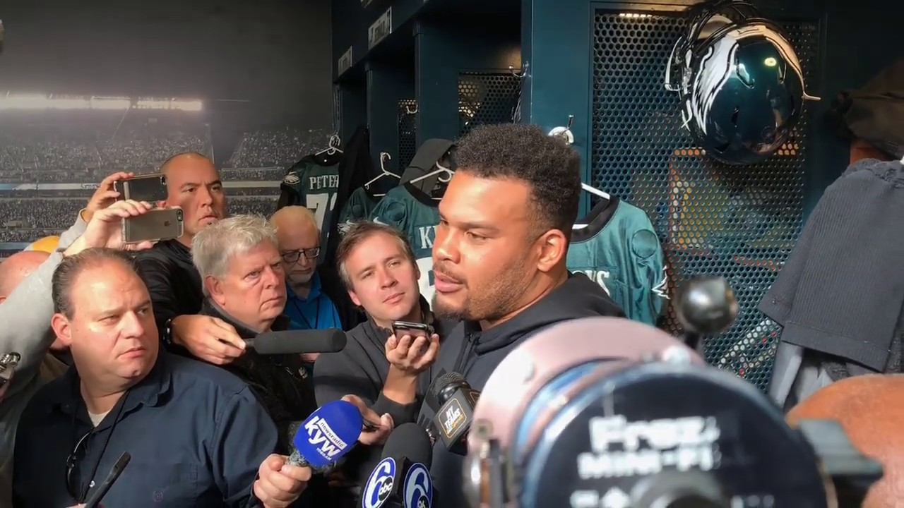 Brandon Brooks of the Philadelphia Eagles couldn't play due to bout ...