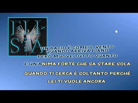 Elisa L'Anima Vola karaoke instrumental
