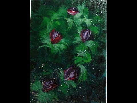 Abstract Floral Vine Oil Painting (or Acrylic) Tutorial