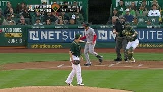 WSH@OAK: Milone strikes out Rendon for first of game