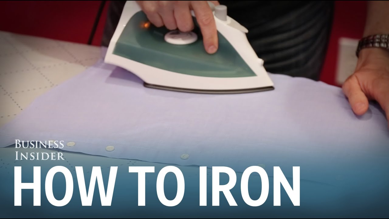 how to iron a dress shirt youtube. Black Bedroom Furniture Sets. Home Design Ideas