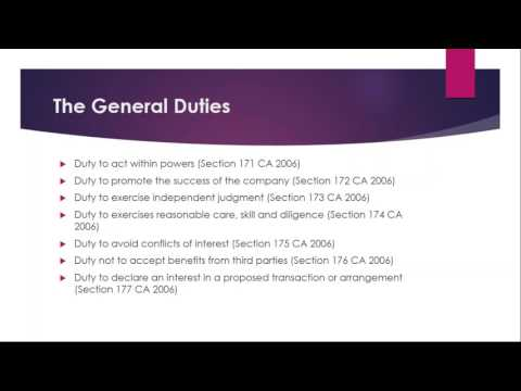 Directors and their Duties  An Overview
