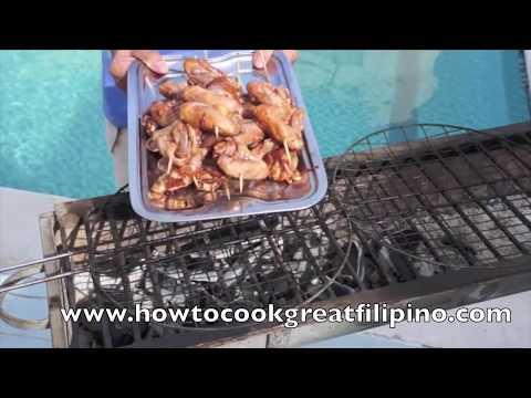 Inihaw na Pakpak ng Manok - BBQ Chicken Wings Pinoy Filipino 