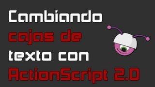 Cambiando cajas de texto con ActionScript 2.0