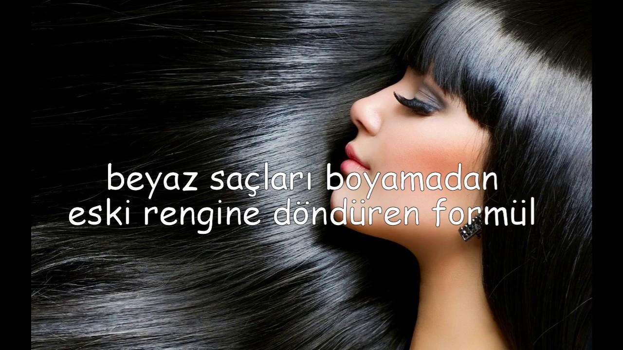 Beyazlamış saçınızı eski rengine döndürün