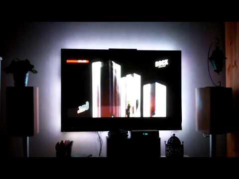 test bandeau led rgb smd 5050 5metres derriere plasma. Black Bedroom Furniture Sets. Home Design Ideas