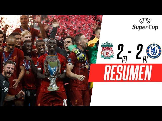 Liverpool - Chelsea [2-2] (5x4) | GOLES | Supercopa de la UEFA 2019