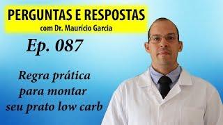 Regra prática para montar seu prato low carb - Perguntas e Respostas com Dr Mauricio Garcia ep 087