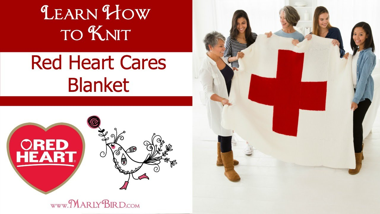 learn how to knit the red heart cares blanket youtube. Black Bedroom Furniture Sets. Home Design Ideas