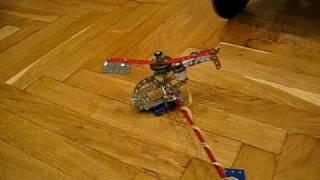 Летающий вертолет из металлического конструктора(Модель