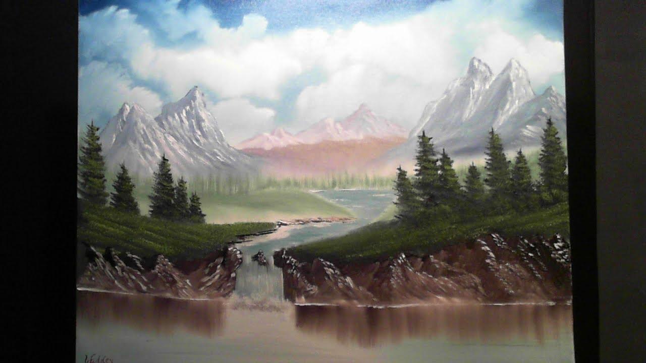 full length landscape oil painting