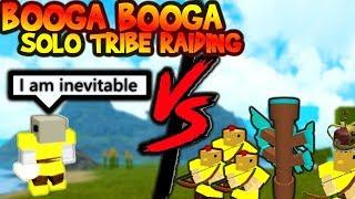 SOLO TRIBE RAIDING | ROBLOX BOOGA BOOGA