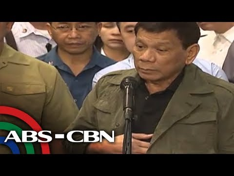 WATCH: President Duterte answers questions from the press
