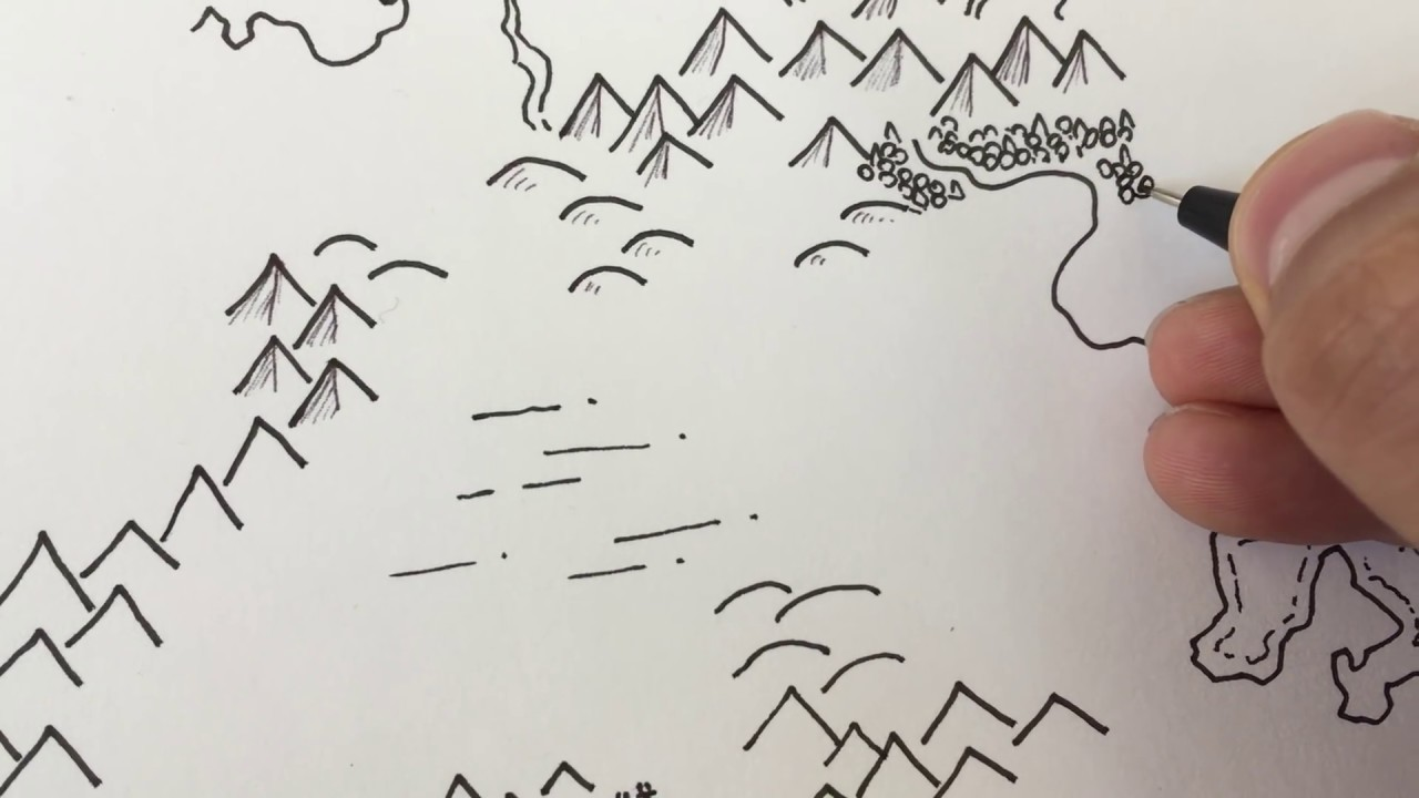 It's just a picture of Agile Drawing Mountains On A Map