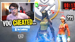 I played with a CHEATER that RUINED my Customs in Fortnite... (he said this...)