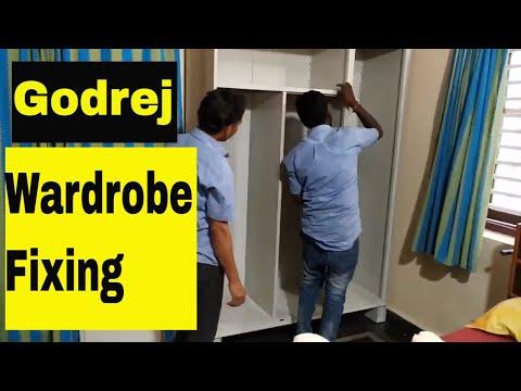 Portable Wardrobe Fixing And Installing Complete Guide|Godrej Modern Wardrobe Designs For Bedroom