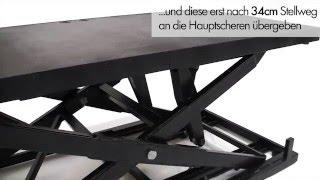 Zoom1200 - stufenlos höhenverstellbares Bühnenpodest mit Einsteckantrieb von Tüchler