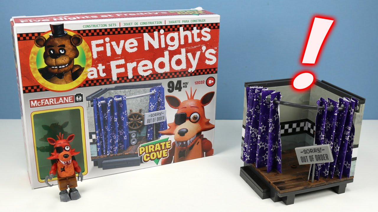More five nights at freddy s construction sets coming soon - Five Nights At Freddy S Pirate Cove With Foxy Construction Set Mcfarlane Youtube