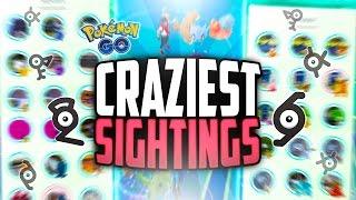 Pokemon Go - The Top 10 CRAZIEST Pokemon Go Sightings! (RARE Generation 2 Pokemon Sightings!)
