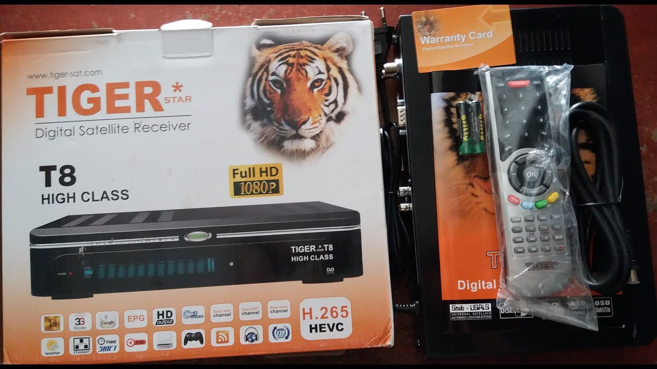 TIGER T8 HIGH CLASS Digital Satellite Receiver Review 2018