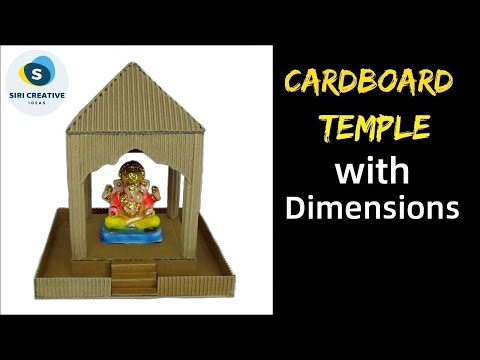 DIY Cardboard Temple | Ganesh Temple Making at Home with Cardboard | Ganesh Chaturthi Special 2019