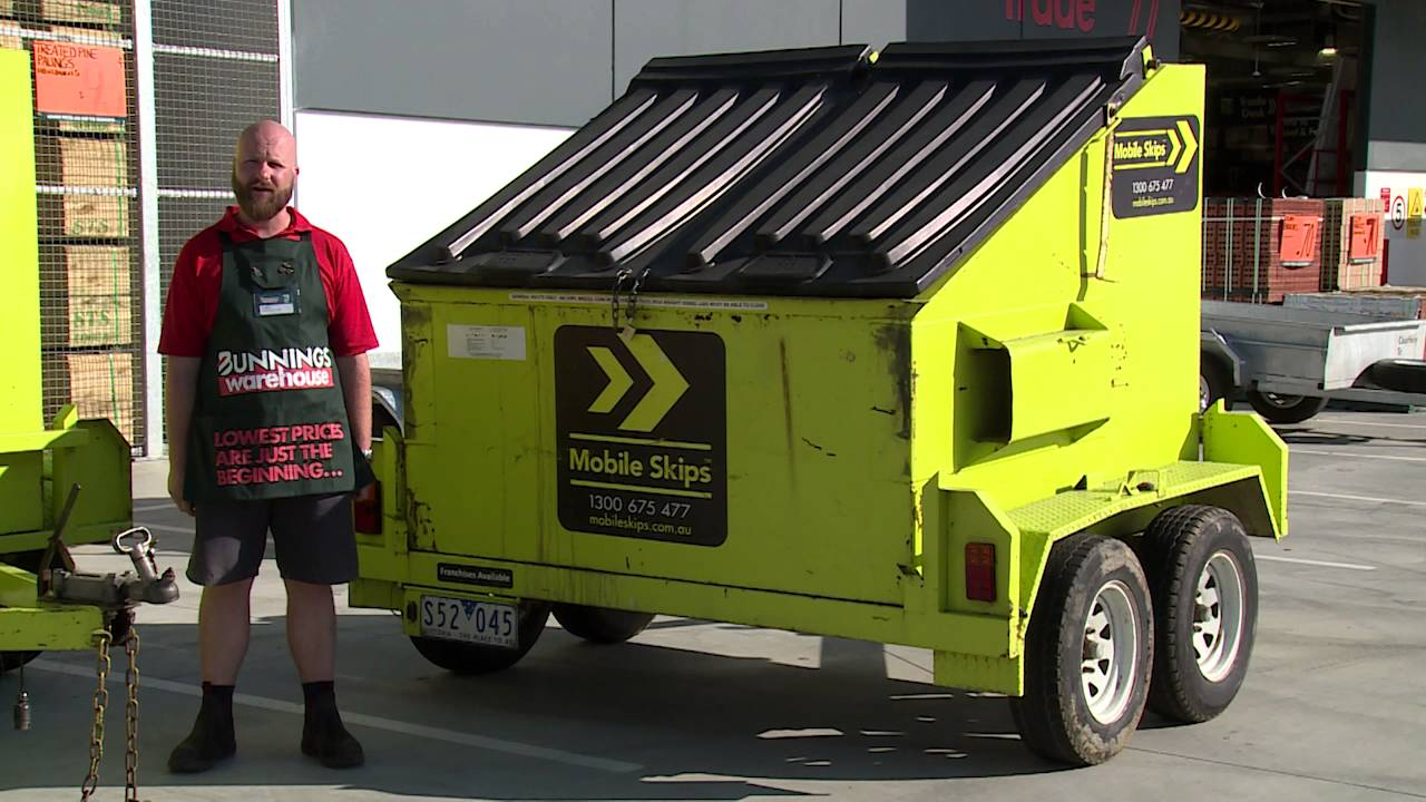 Tips for Using a Mobile Skip - DIY at Bunnings - YouTube