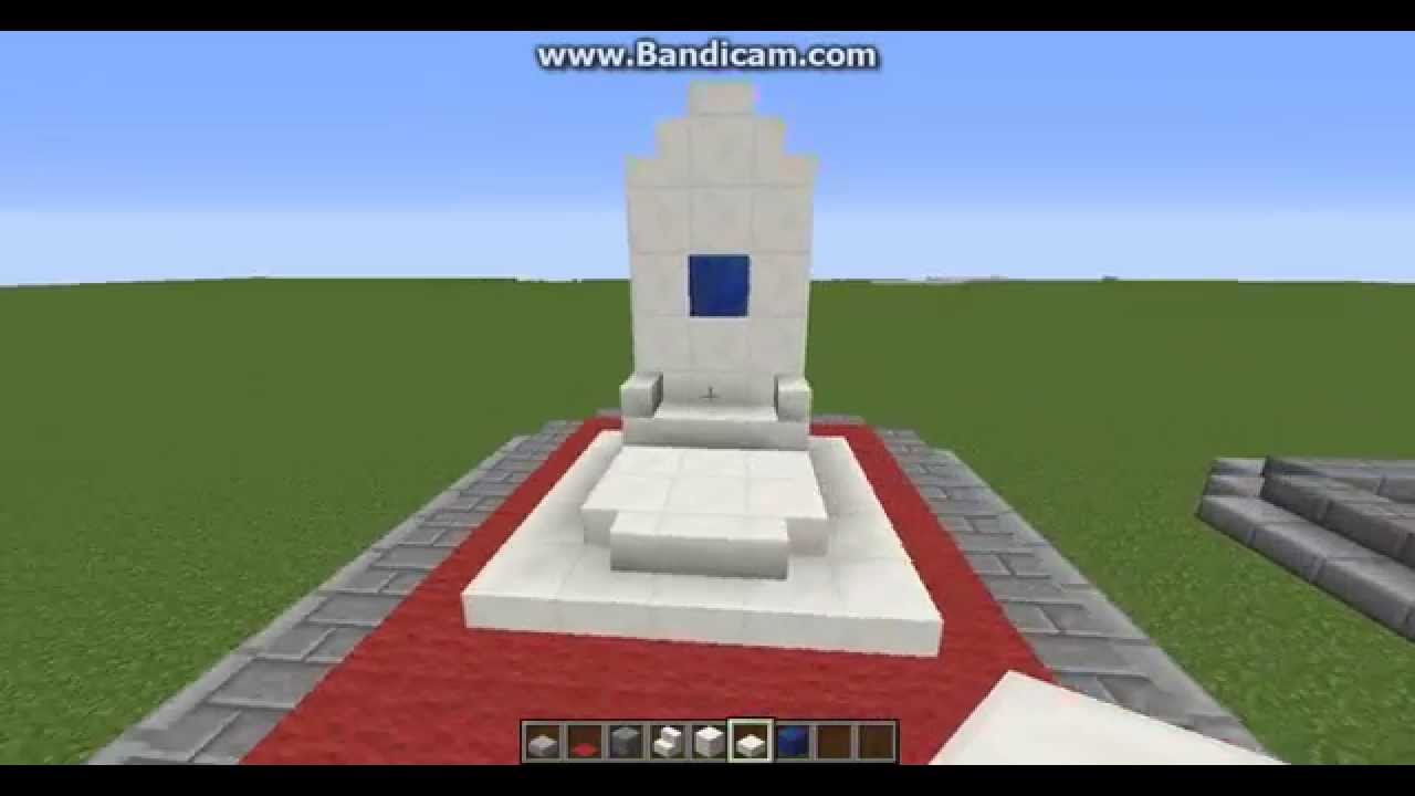 how to make a queen throne chair dining room covers on amazon minecraft this very easy youtube