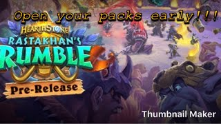 Hearthstone || How To Make A Private Fireside Gathering || How To Open Your Rastakhan Rumble Packs!!