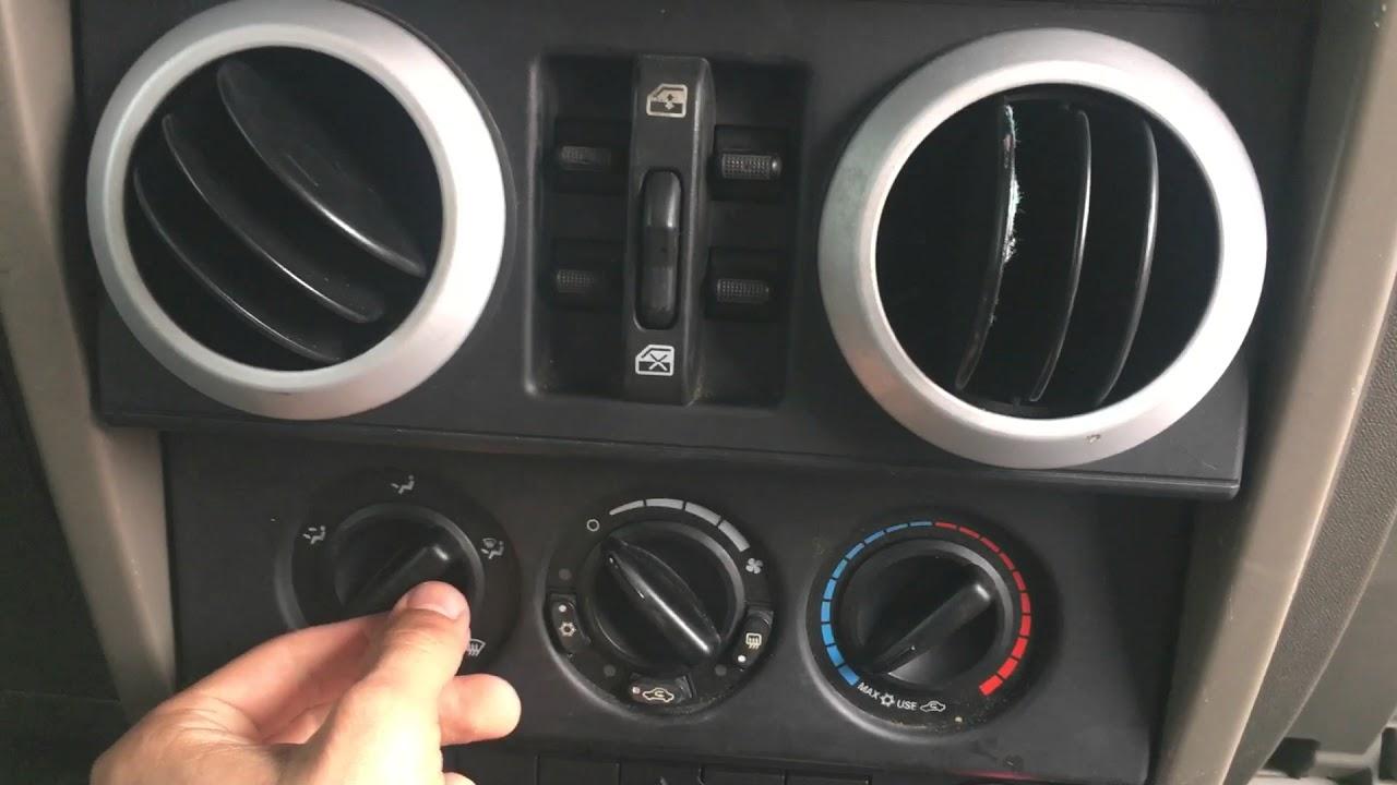 Jeep Wrangler Jk Blower Direction Not Working Diy Repair Youtube Rear Window Defrost