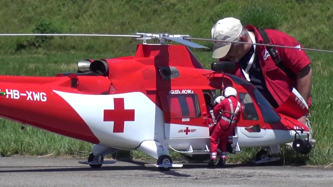Rc Helicopter  U00abda Vinci U00bb Aw109 Rega Look Rotor