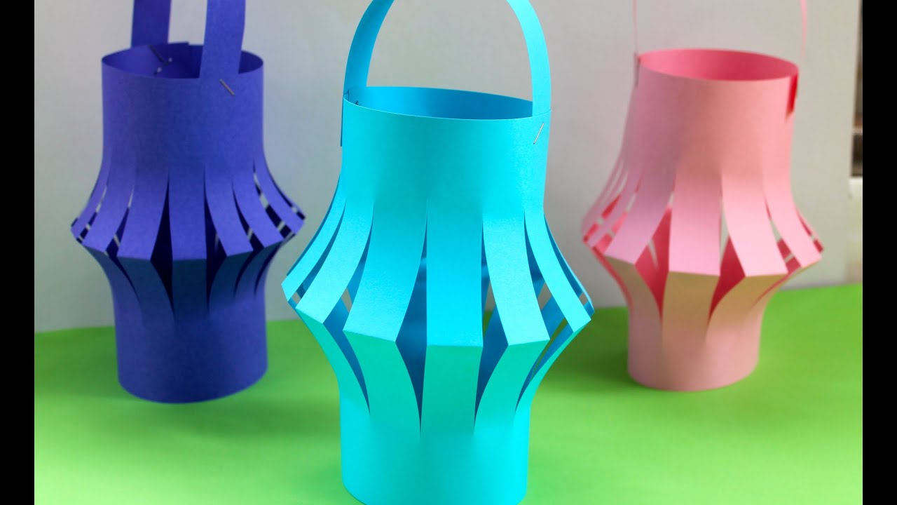 How To Make A Chinese Paper Lantern Fun Kids Activities Youtube for Craft Ideas Lanterns