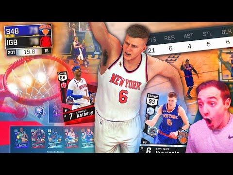 NBA 2K17 My Team DIAMOND PORZINGIS KNICKS SQUAD! TRIPLE OVERTIME?