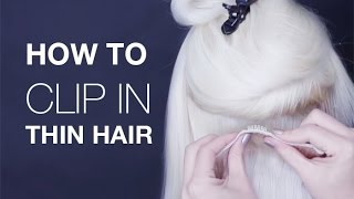 How to Clip In Hair Extensions | Hair Extensions for thin hair | Buy Hair Extensions