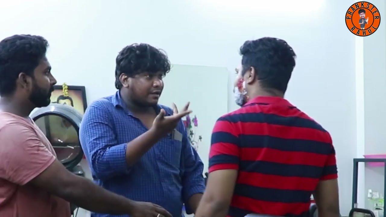 Salon Massage prank   Prankster Rahul   Tamil video   PSR India 2021