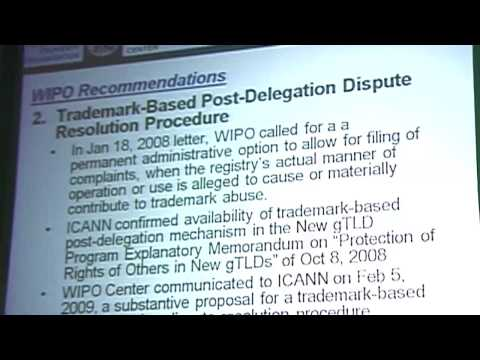 ICANN gTLD Consultation NYC - WIPO