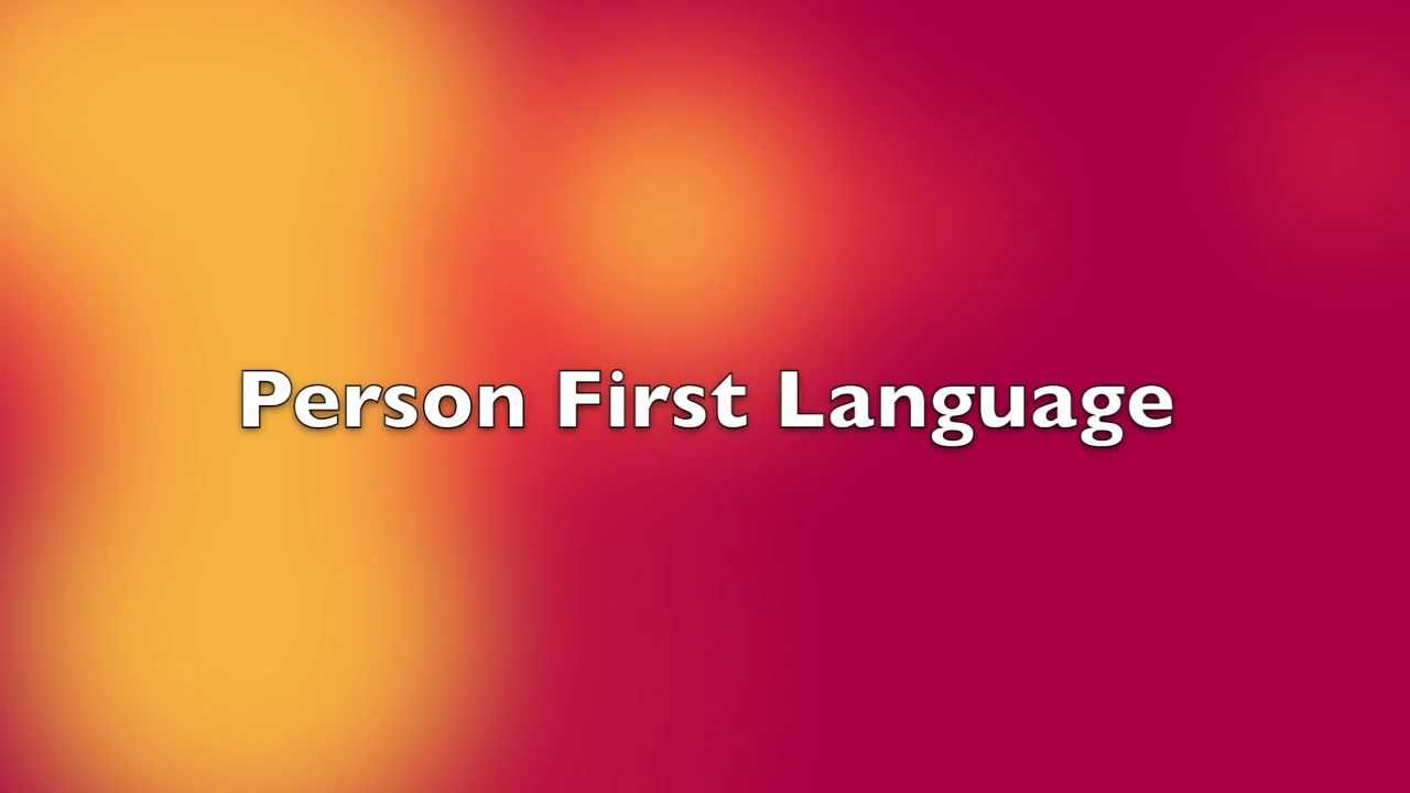 people first language This is part of my social marketing campaign to raise awareness of the importance of utilizing people-first language when referring to people who have develo.
