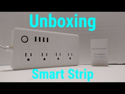 Jinvoo WIFI Smart Power Strip Unboxing! - YouTube