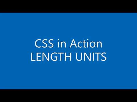 CSS in Action (Tutorial) - LENGTH UNITS thumbnail