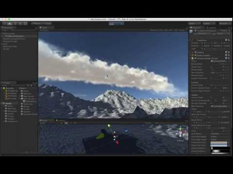 WIP volume clouds Unity3D shader - cloud modeling