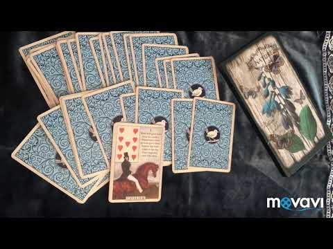 Blue Bird Lenormand/голубая птица Ленорман. Таро, оракулы. Перевод. Всадник