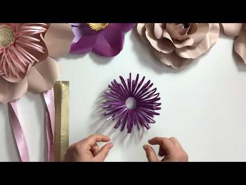 Fluffy  loopy paper flower centre / DIY tutorial
