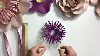 Fluffy  loopy paper flower centre / DIY tutorial