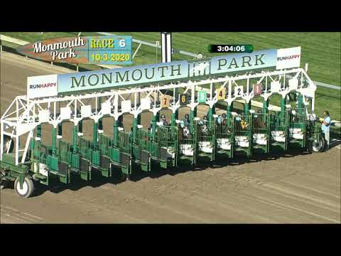 video thumbnail for MONMOUTH PARK 10-3-20 RACE 6