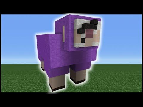 Minecraft Tutorial: How To Make Purple Shep (ExplodingTNT ...