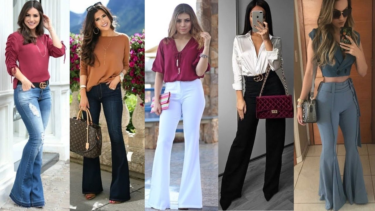 Pantalones Que Estan En Tendencia 2019 2020 Pantalones Acampanados Outfits Ideas Youtube
