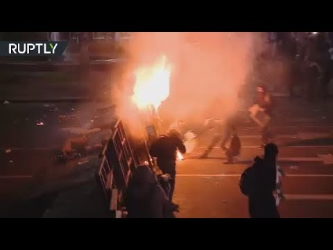 RAW: Protesters clash with police over missing rights activist in Argentina (DISTURBING)